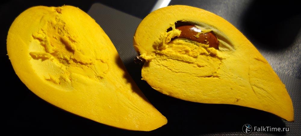 Канистель в разрезе, семена