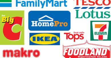 Логотипы супер- и гипермаркетов Таиланда