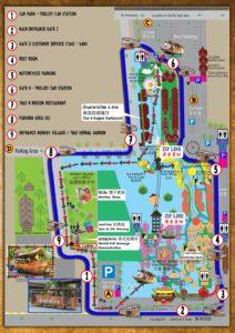 Карта плавучего рынка в Таиланде