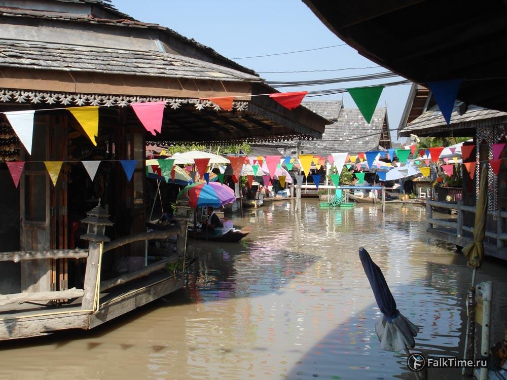 Каналы плавучего рынка Паттайи
