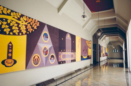 Выставка в чеди Бодх-Гая, ват Ян