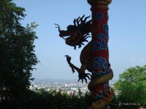 Дракон и вид на город