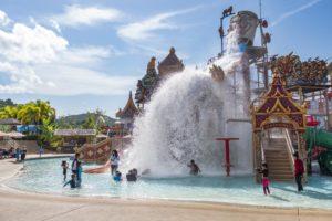 Водные забавы для детей в аквапарке