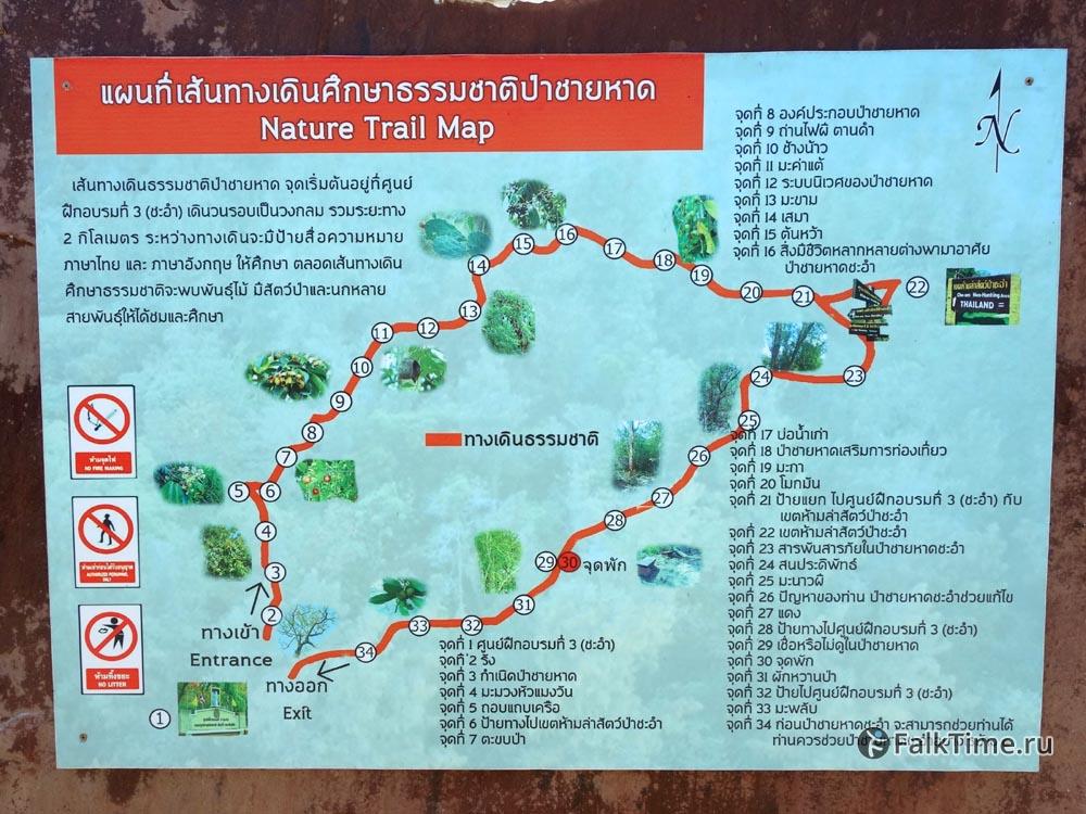 Карта природной тропы